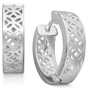 Giani Bernini Sterling Silver Earrings, Thick Cut